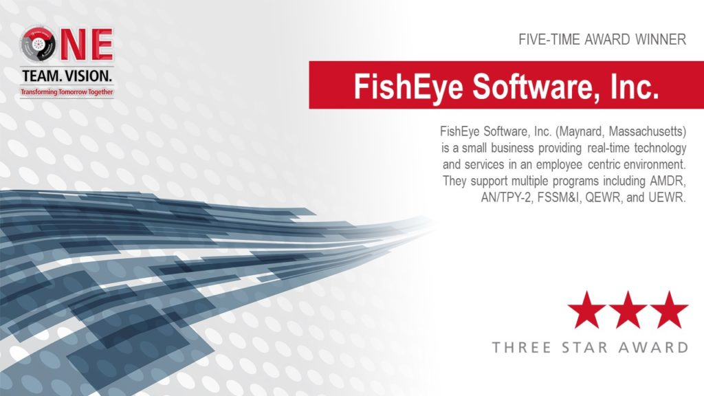 Raytheon Supplier Excellence Award FishEye Software post
